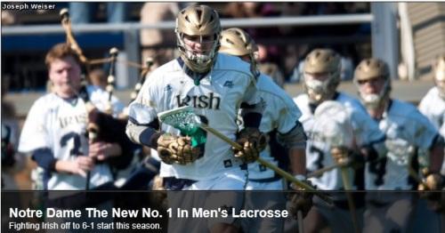 Notre Dame Men's Lacrosse new #1