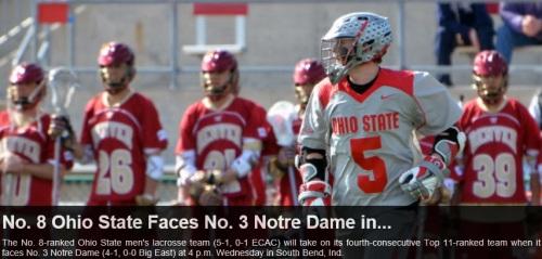 Ohio State Men's Lacrosse vs Notre Dame