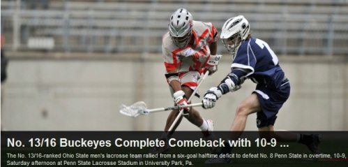 Ohio State Men's Lacrosse vs Penn State