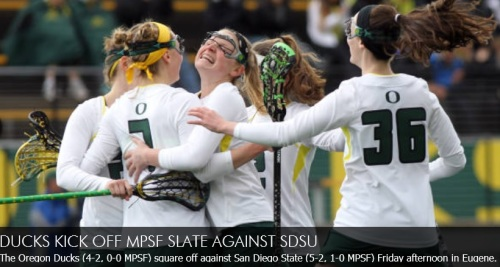 Oregon Women's Lacrosse vs San Diego State