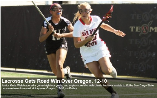San Diego State Women's Lacrosse vs Oregon