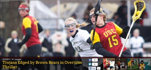 USC Women's Lacrosse vs Brown