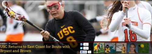 USC Women's Lacrosse vs Bryant and Brown