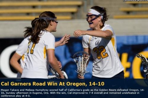 Cal Berkeley Women's Lacrosse vs Oregon
