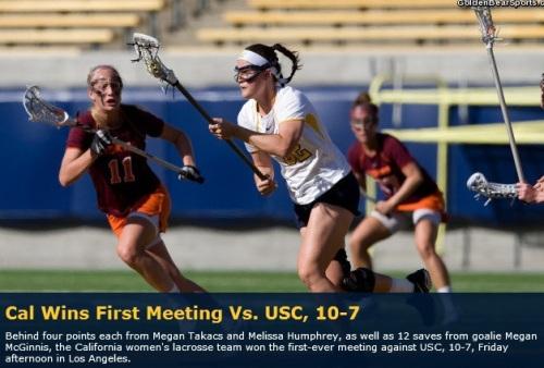 Cal Berkeley Women's Lacrosse vs USC