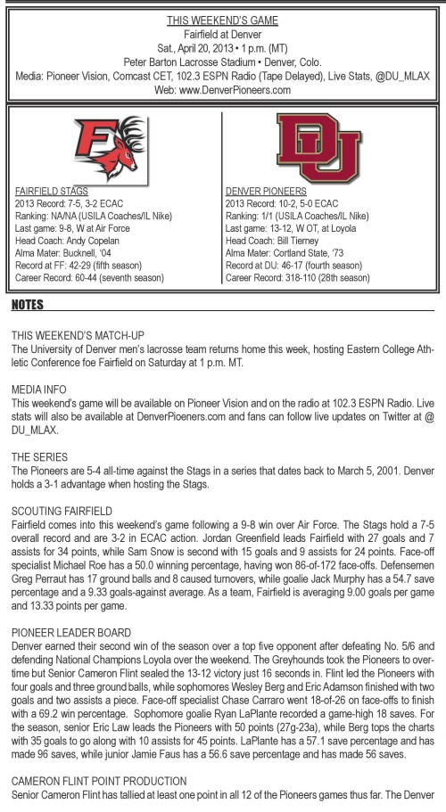 Denver Men's Lacrosse vs Fairfield Game Notes-page-001