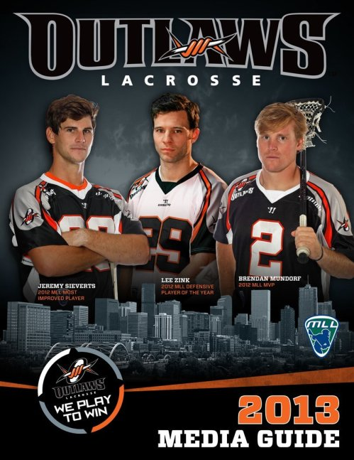 Denver Outlaws 2013 Media Guide