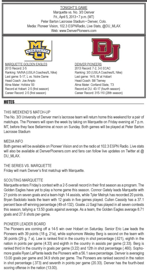 Denver vs Marquette game notes-page-001