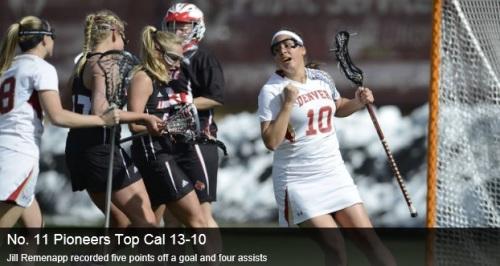 Denver Women's Lacrosse vs Cal Berkeley
