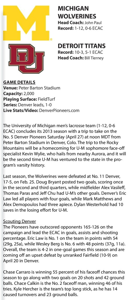Michigan Men's Lacrosse vs Denver-page-001