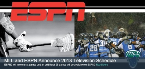 MLL and ESPN Television Schedule