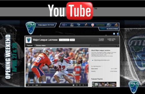 MLL Lacrosse Aired On YouTube