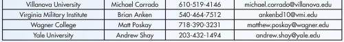 NCAA Div I Men's Lacrosse Coaches Directory 3