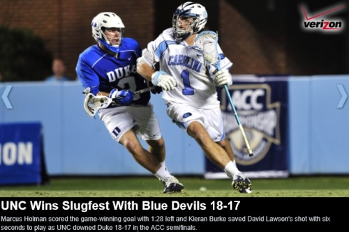 North Carolina Men's Lacrosse vs Duke