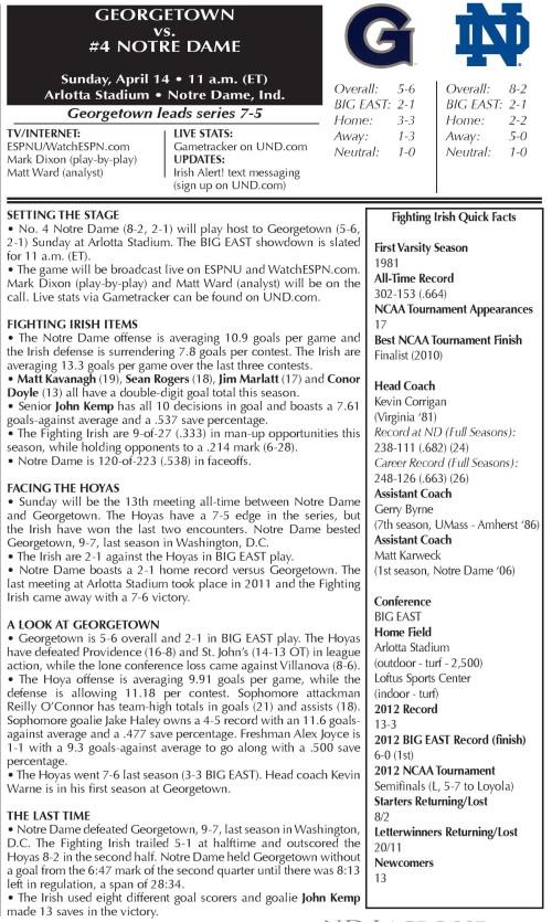 Notre Dame Men's Lacrosse vs Georgetown-page-001