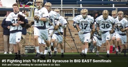Notre Dame Men's Lacrosse vs Syracuse