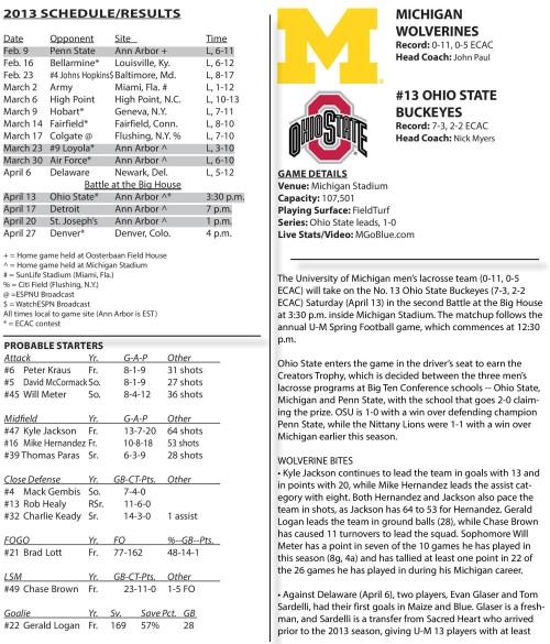 Ohio State Men's Lacrosse vs Michigan game notes-page-001