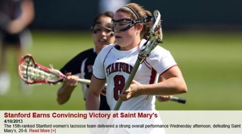 Stanford Women's Lacrosse vs Saint Mary's