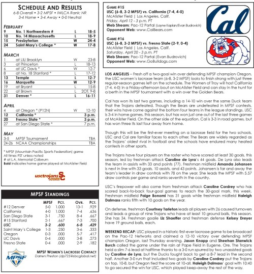 USC Women's Lacrosse vs Cal game notes-page-001