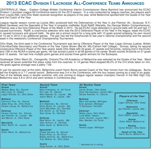 2013 ECAC Men's Lacrosse Awards And All-Conference Teams-page-001