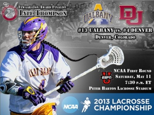 Albany Men's Lacrosse vs Denver Thompson Brothers Scoring Trio