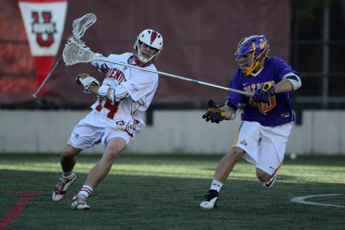 Denver Men's Lacrosse Attacker Wes Berg vs Albany in 2013 NCAA Men's Lacrosse Championships