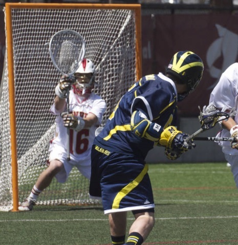 Denver Men's Lacrosse Goalie Jamie Faus Michigan
