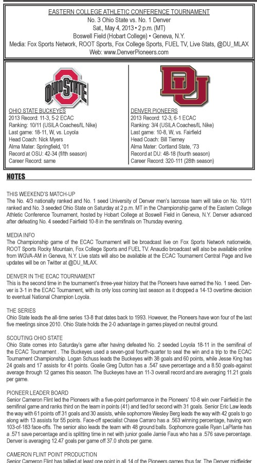 Denver Men's Lacrosse vs Ohio State game notes-page-001
