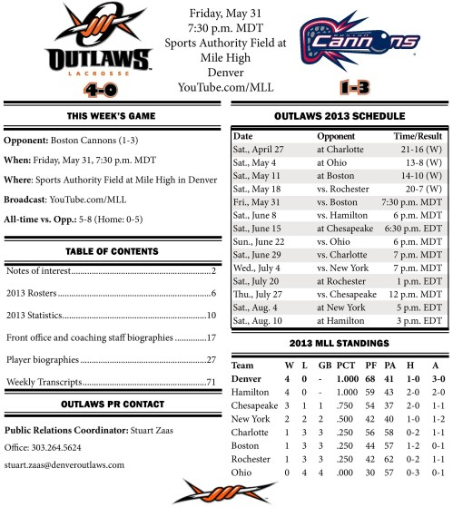 Denver Outlaws vs Boston Cannons May 31 Game Notes-page-001