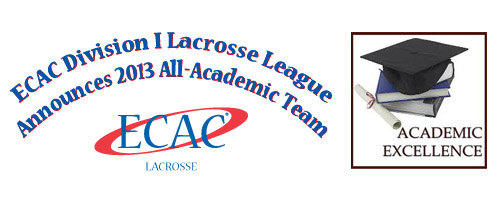 ecac men's lacrosse all academic team 2013