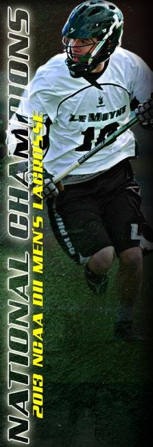 LeMoyne Men's Lacrosse Side Banner