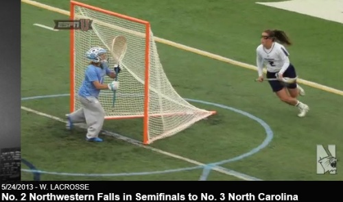 Northwestern Women's Lacrosse vs North Carolina 2013 NCAA Women's Semifinals