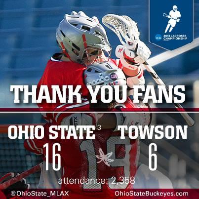 Ohio State Men's Lacrosse 2013 NCAA Lacrosse Championships Attendance