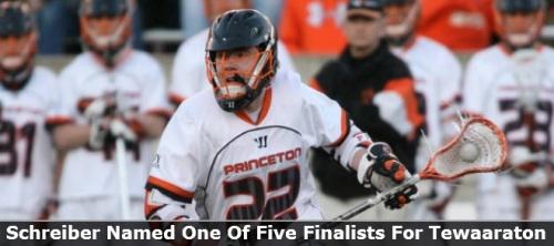 Princeton Men's Lacrosse Middie Tom Schreiber 2013 Tewaaraton Finalist