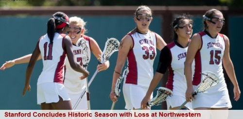 Stanford Women's Lacrosse vs Northwestern NCAA Lacrosse Tournament