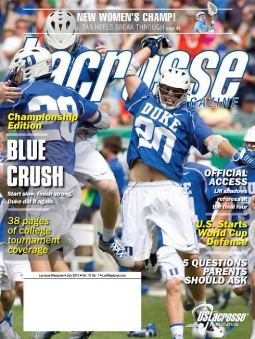 Lacrosse Magazine July 2013 Issue