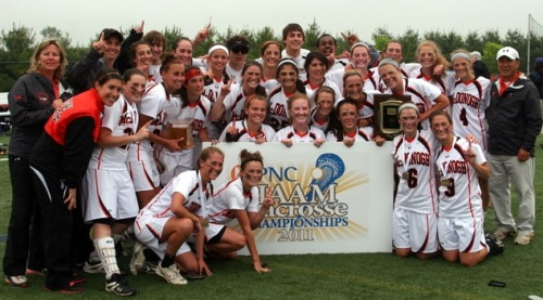 Unbeaten McDonogh (Md.), which concluded its 2013 season by winning its fifth straight Interscholastic Athletic Association of Maryland championship and by extending its winning streak to 91 games, earned all 10 first-place votes to finish No. 1 in the final Nike/US Lacrosse High School Girls' Lacrosse National Top 25 poll, released Tuesday by US Lacrosse.The Eagles finished 22-0 to beat out No. 2 St. Anthony's (N.Y.), which suffered just one loss during its Catholic High School Athletic Association title-winning season. St. Stephen's and St. Agnes (Va.) went 27-1 en route to capturing two league championships and finishing at No. 3. Independent Schools League runner-up Georgetown Visitation (D.C.) and New Jersey Tournament of Champions winner Moorestown round out the top five.Voters in the Nike/US Lacrosse Top 25 polls include Lacrosse Magazine writers, who determine the regional report rankings, and US Lacrosse area representives in the field. This is the final girls' poll of the 2013 season.