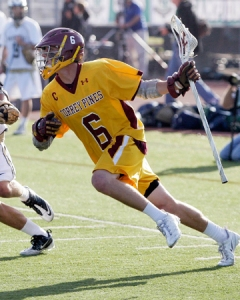 Torrey Pines Boys Lacrosse Attacker Lucas Gradinger. Photo by Robert Benson for Lacrosse Magazine