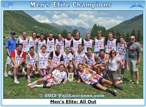 2013 Vail Lacrosse Shootout Men's Elite Champions All Out