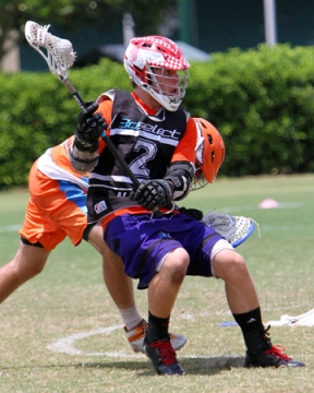 Alec Barnes won 14 of 18 faceoffs and added a goal and two assists to lead 3d Select National to a 10-4 win over the Long Island Express Barracudas (N.Y.) in the gold medal game of the US Lacrosse U15 National Championship, powered by Lacrosse Unlimited, Sunday at the ESPN Wide World of Sports Complex. With players mainly from Colorado and California, 3d Select became the first Western program to win in the five-year history of the championship. Photo by ©Scott McCall
