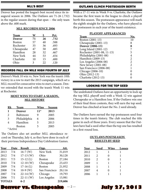 Denver Outlaws vs Chesapeake Bayhawks game notes-page-002