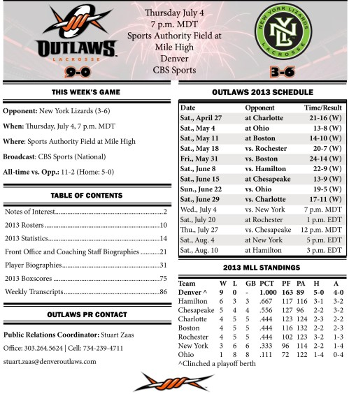 Denver Outlaws vs New York Lizards game notes-page-001