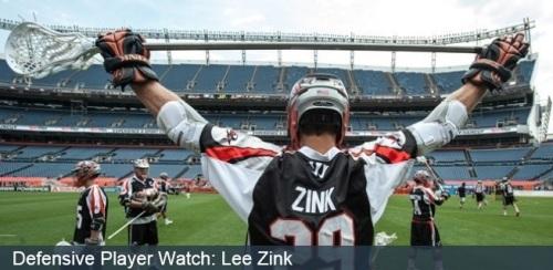 Denver Outlaws Defenseman Lee Zink MLL
