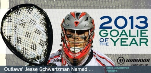Denver Outlaws Jesse Schwartzman MLL Goalie Of The Year