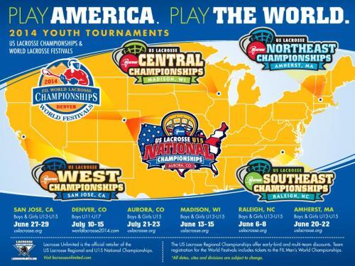 2014 US Lacrosse Championships and World Lacrosse Festivals