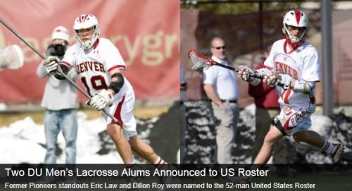 Denver Men's Lacrosse Alums Named To Team USA Lacrosse Roster