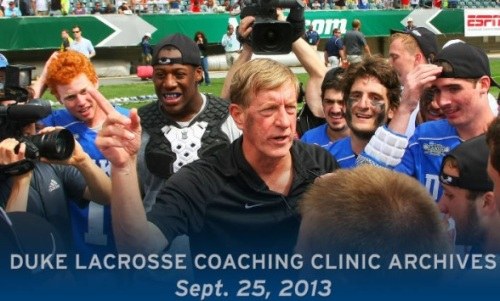 Duke Men's Lacrosse Clinics 2013