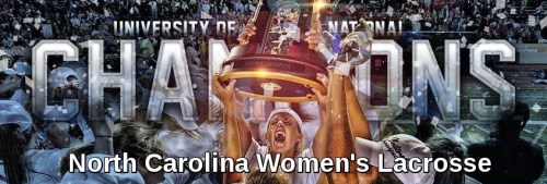 North Carolina Women's Lacrosse Banner