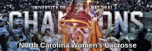 North Carolina Women's Lacrosse Banner