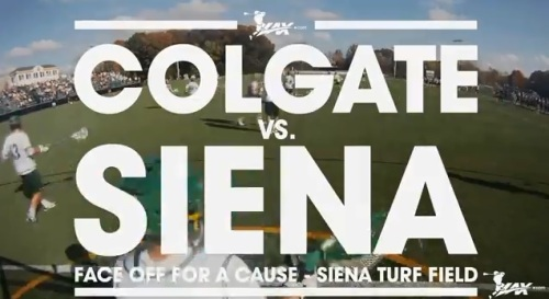 2013 Face Off For A Cause Siena Men's Lacrosse vs Colgate